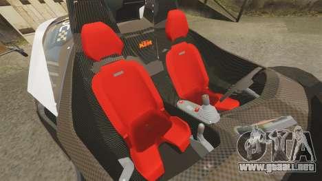 KTM X-Bow R [FINAL] para GTA 4 vista lateral