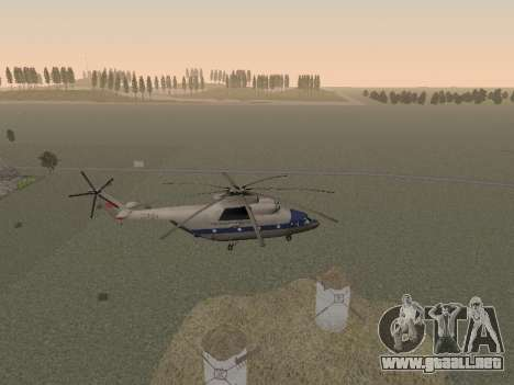 Mi 26 Civil para vista lateral GTA San Andreas