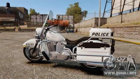 GTA V Western Motorcycle Police Bike para GTA 4 left