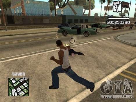C-HUD By Kapo para GTA San Andreas sucesivamente de pantalla
