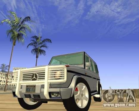 Mercedes-Benz G500 Brabus para GTA San Andreas vista hacia atrás