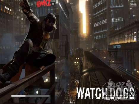 Arranque de las pantallas y menús de Watch Dogs para GTA San Andreas octavo de pantalla