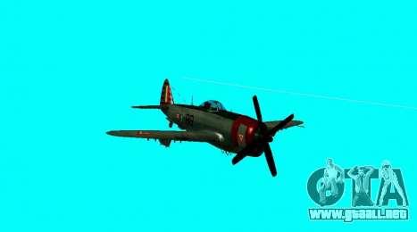 P-47 Thunderbolt para la visión correcta GTA San Andreas