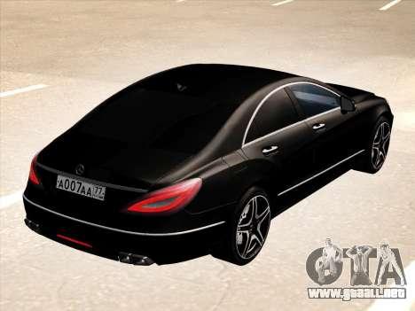 Mercedes-Benz CLS350 2012 para GTA San Andreas vista hacia atrás