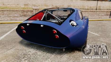 Shelby Cobra Daytona Coupe para GTA 4 Vista posterior izquierda