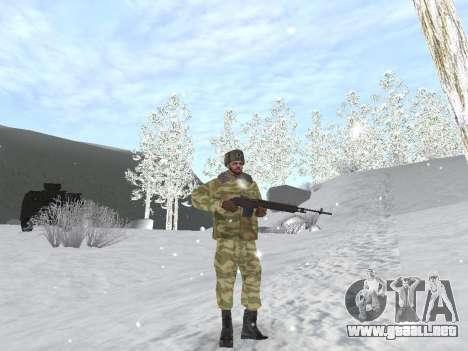 Pak ejército ruso de servicio para GTA San Andreas octavo de pantalla