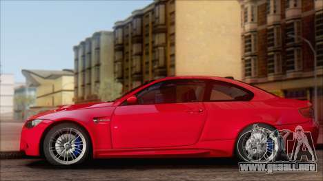 BMW M3 E92 para GTA San Andreas left