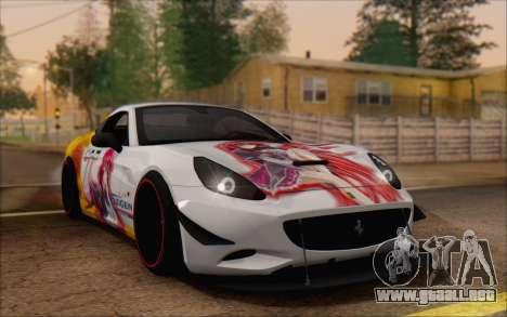 Ferrari California v2 para vista lateral GTA San Andreas