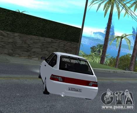 ВАЗ 2112 GVR Versión 1.1 para GTA San Andreas vista posterior izquierda