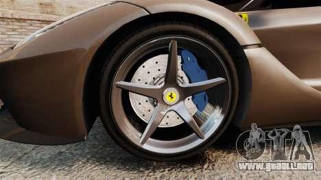 Ferrari LaFerrari v2.0 para GTA 4 vista hacia atrás