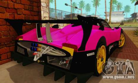 Pagani Zonda Type R Pink para GTA San Andreas vista hacia atrás