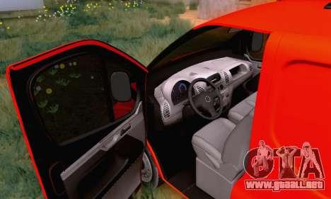 Opel Vivaro para visión interna GTA San Andreas