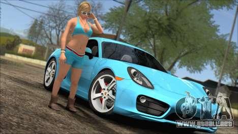 Porsche Cayman S 2014 para visión interna GTA San Andreas