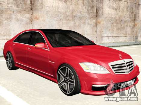 Mercedes-Benz S65 AMG 2012 para vista inferior GTA San Andreas