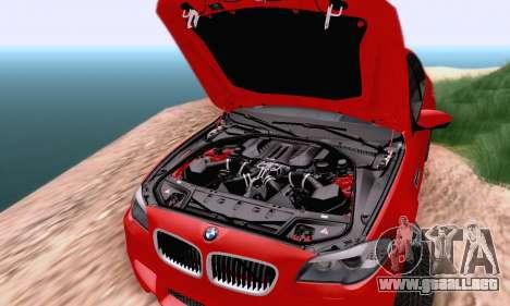 BMW F10 M5 2012 Stock para GTA San Andreas vista hacia atrás