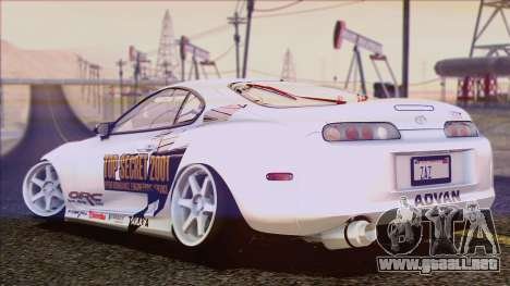 Toyota Supra 1998 Top Secret para vista inferior GTA San Andreas