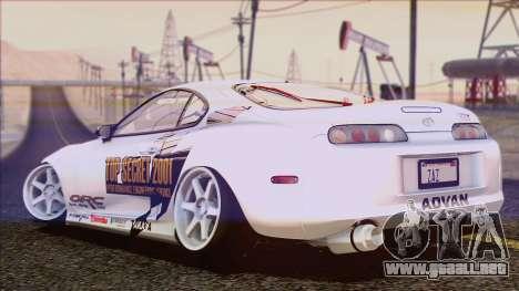 Toyota Supra 1998 Top Secret para vista inferior GTA San Andreas