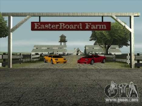 Lamborghini Diablo SV para GTA San Andreas vista posterior izquierda