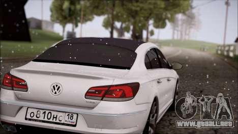 Volkswagen Passat CC para vista lateral GTA San Andreas