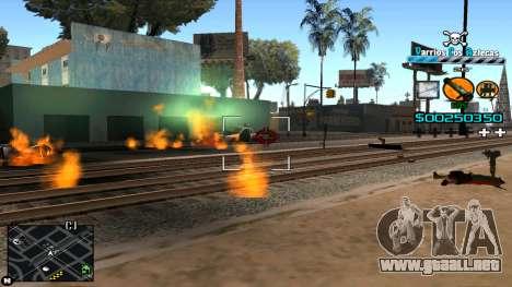 C-HUD Mass Media para GTA San Andreas segunda pantalla