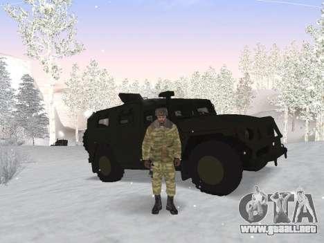 Pak ejército ruso de servicio para GTA San Andreas tercera pantalla
