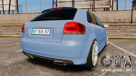 Audi S3 EmreAKIN Edition para GTA 4 Vista posterior izquierda