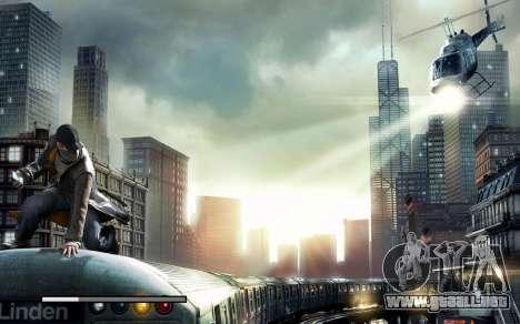 Arranque de las pantallas y menús de Watch Dogs para GTA San Andreas sexta pantalla
