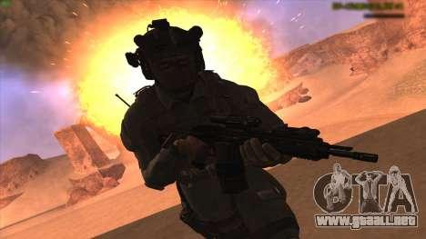Sgt Keegan P.Russ из De Call of Duty: Ghosts para GTA San Andreas segunda pantalla