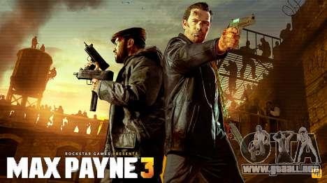 Inicio pantallas de Max Payne 3 HD para GTA San Andreas