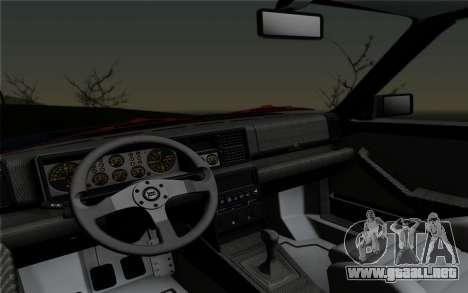 Lancia Delta HF Integrale Evo2 para GTA San Andreas vista hacia atrás