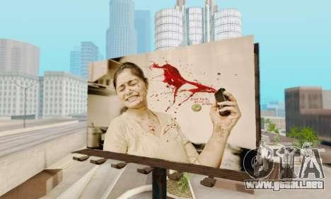 Nuevo de alta calidad de la publicidad en los ca para GTA San Andreas tercera pantalla
