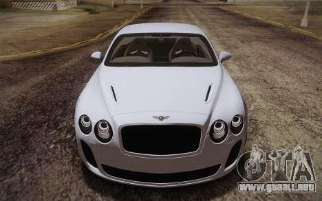 Bentley Continental SuperSports 2010 v2 Finale para vista lateral GTA San Andreas