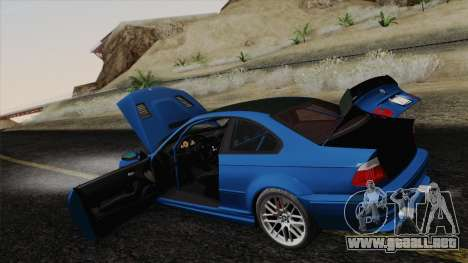 BMW M3 E46 GTR 2005 para vista inferior GTA San Andreas