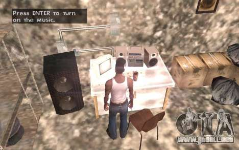 El sótano de la casa de Carl para GTA San Andreas sexta pantalla
