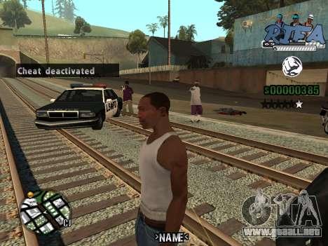 C-HUD RIfa Gang para GTA San Andreas tercera pantalla