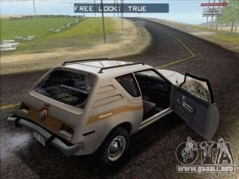 AMC Gremlin X 1973 para la vista superior GTA San Andreas