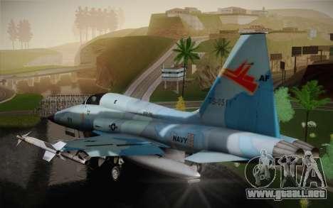 F-5E Tiger II para GTA San Andreas vista posterior izquierda