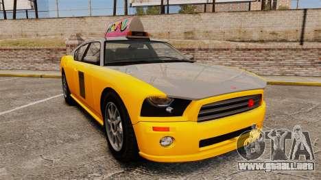 Bravado Buffalo Taxi para GTA 4
