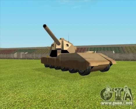 RhinoKnappe auf. 128mm Zenit-Waffe para GTA San Andreas left