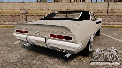 Chevrolet Camaro SS para GTA 4 Vista posterior izquierda