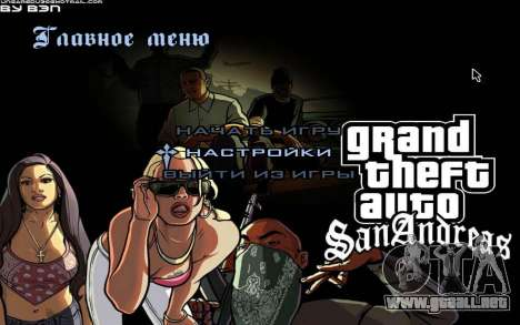 HD menús para GTA San Andreas
