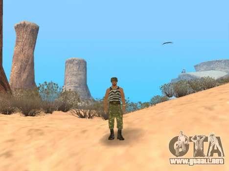 Pak ejército ruso de servicio para GTA San Andreas novena de pantalla