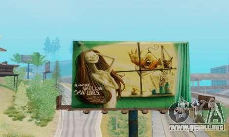 Nuevo de alta calidad de la publicidad en los ca para GTA San Andreas quinta pantalla