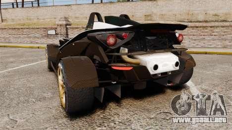 KTM X-Bow R [FINAL] para GTA 4 Vista posterior izquierda