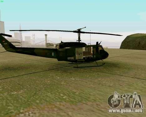 UH-1D Huey para GTA San Andreas vista posterior izquierda