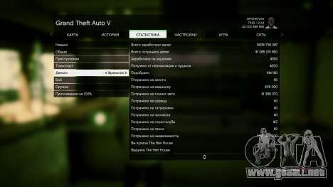 GTA 5 Guardar GTA 5 100% y más de 1 mil millones de Xb cuarto captura de pantalla