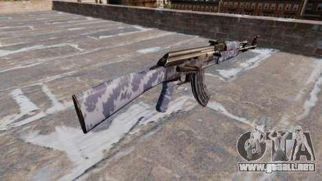 El AK-47 Blue Camo para GTA 4 segundos de pantalla