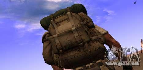 Рюкзак из MOH Warfighter para GTA San Andreas segunda pantalla