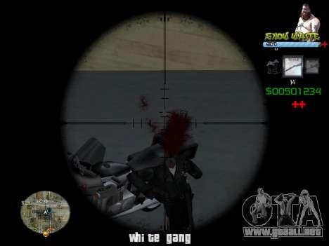 C-HUD Snow White para GTA San Andreas segunda pantalla