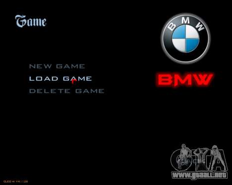 Nuevo menú de la imagen para GTA San Andreas